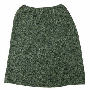 Josephine Chaus green print a-line skirt